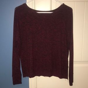 Dark red long sleeve